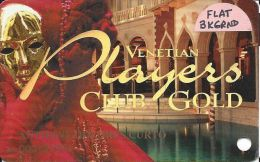 Venetian Casino Las Vegas 4th Issue Players Club Gold Slot Card With Flat Background - Casino Cards