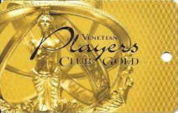 Venetian Casino Las Vegas 5th Issue Players Club Gold Slot Card - 9mm Mag Stripe (Blank) - Casino Cards