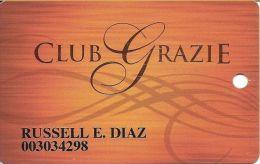 Venetian Casino Las Vegas - Club Grazie Slot Card With Las Vegas Sands Corp - Casino Cards