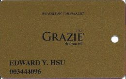 Venetian Casino Las Vegas - Grazie Gold Slot Card - Casino Cards