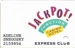 Jackpot Junction Casino Morton MN Slot Card - PRINTED 7th Issue With Light Mag Stripe (See Description) - Casino Cards