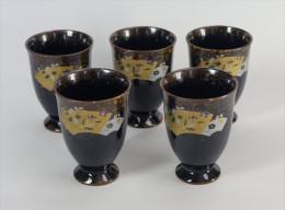 5 Japanese Ceramic Cups - Ceramics & Pottery