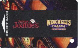 Jackpot Joanie´s & Winchells In Las Vegas - Players Club Card - Casino Cards