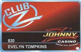 Johnny Z´s Casino Central City CO - Club Z Slot Card  (Printed) - Casino Cards