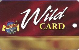 Jubilee Casino Greenville MS - 8th Issue Wild Card With (I) Above Mag Stripe  (Blank) - Casino Cards
