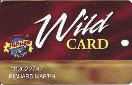 Jubilee Casino Greenville MS - 8th Issue Wild Card With (I) Above Mag Stripe  (Printed) - Casino Cards