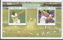 ST VINCENT, CRICKET MINISHEET MNH - St.Vincent (1979-...)