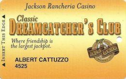 Jackson Rancheria Casino Jackson CA - Slot Card - Casino Cards
