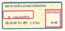 Czech Rep. / APOST (2000) 582 91 SVETLA NAD SAZAVOU (A01170) - Czech Republic