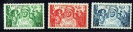 1949 75è Ann De L'UPU  Yv 276-8 **  MNH - Algérie (1924-1962)