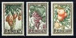 1950  Raisins, Dates, Oranges Et Citrons Yv 279-281 * - Algerien (1924-1962)