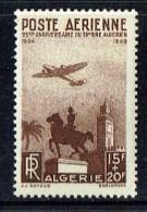 1949 25è Ann Du Premier Timbre Algérien  Yv PA 13* - Algérie (1924-1962)