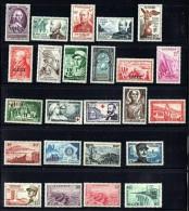 Groupe De  24 Timbres Commémoratifs  * - Algerien (1924-1962)