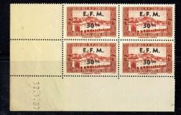 1943   Timbre Télégraphe Yv 2 Coin Daté ** - Algérie (1924-1962)
