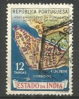 Portuguese India - 1956 Map 12t Used    Sc 548 - Portuguese India