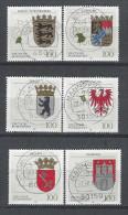 BUND Mi-Nr. 1586 - 1591 Wappen Gestempelt (10) - Briefmarken