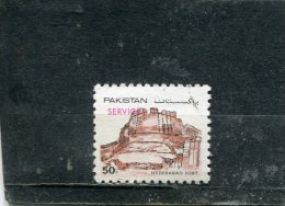 """PAKISTAN. 1984. O121. OVPTD. """"SERVICE"""" IN RED. HYDERABAD"""