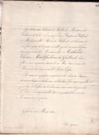 GAND GENT Mathilde De GHELLINCK 1840 Doodsbrief Adel - Todesanzeige