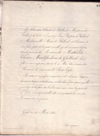 GAND GENT Mathilde De GHELLINCK 1840 Doodsbrief Adel - Esquela