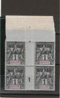 Indochine - Millésines 1c Groupe _ Surchargé Hoi Hao -  Bloc De 4 H. De F. Millesimes1901