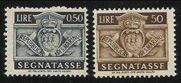1945 San Marino Saint Marin SEGNATASSE  50c + 50 Lire MNH** Postage Due - Segnatasse