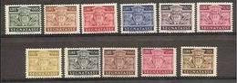 1945 San Marino Saint Marin SEGNATASSE STEMMA 11v: 5/10/15/20/25/30/40/50c/6 0c + 2L/50L MNH** - Segnatasse