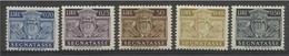 1945 San Marino Saint Marin SEGNATASSE STEMMA 5v: 20/25/40/50c + 50L MNH** - Segnatasse