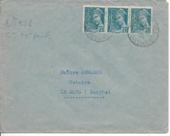 Lettre De France N°508 Sur Lettre - 1921-1960: Modern Period