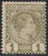 Monaco Neufs Avec Charniére, No: 1, Y Et T, Coté 35 Euros, 1885,  MINT HINGED - Monaco