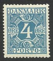 Denmark, 4 O. 1925, Sc # J10, MH. - Port Dû (Taxe)