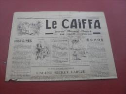 Le Caiffa  N° 106 107    Septembre  Octobre 1936 - Journaux - Quotidiens