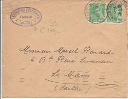 Lettre De France N°414 Sur Lettre - 1921-1960: Modern Period