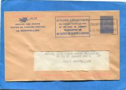 """MARCOPHILIE-""""Courrier D´Essai""""à Ne Pas Distribuer PLI De Service-CCP-MONTPELLIER*-  CH 66-Cachet Muet - Marcophilie (Lettres)"""