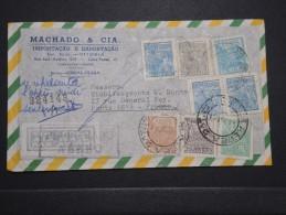 BRESIL - Enveloppe En Recommandée Pour La France En 1951 - Aff. Plaisant - A Voir - Lot P14696 - Cartas