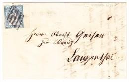 Heimat BE WYNIGEN Lnagstempel 10Rp. Strubel Bogenrand Auf Brief 8.7.1856 - Lettres & Documents