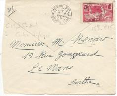 Lettre De France N°184 Sur Lettre (devant De Lettre ) - Marcophilie (Lettres)