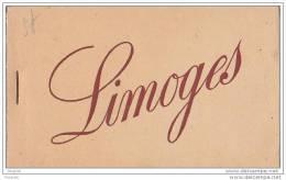 LIMOGES EN HAUTE  VIENNE  CARNET DE 10 CPA - Limoges
