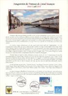 Inauguration Du TRAM à Besançon     Document Philatélique Avec Timbre Et Cachet Du 1° Jour