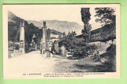 SAINT GEORGES  De COMMIERS - Chemin De Fer Ligne De Grenoble à Gap - Passage Du Train Sur Viaduc-  Peu Courant - 2 Scans - France