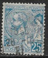 Monaco Oblitérér, No: 25, Y Et T, Coté 6,50 Euros, 1891, USED - Monaco