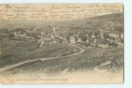 PONTARLIER : Panorama De La Ville. Dos Simple. 2 Scans. - Pontarlier