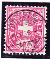 Heimat GL NETTSTAL 8. IX.1886 Auf 10c.Telegraphen Marke - Télégraphe
