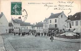 95 - Marines - Place De La Mairie (Café De La Mairie) - Marines