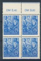 DDR Nr. 367 X II ** postfrisch Viererblock