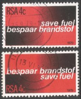 South Africa. 1979 Fuel Conservation. Used Complete Set SG 457-458 - South Africa (1961-...)