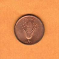 TONGA  1 SENITI 1975  (KM # 42) - Tonga