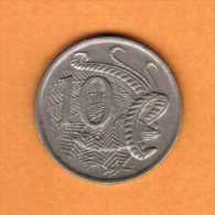 AUSTRALIA   10 CENTS 1976  (KM # 65) - Decimal Coinage (1966-...)