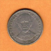 DOMINICAN REPUBLIC   25 CENTAVOS 1979  (KM # 51) - Dominicana