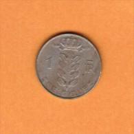 BELGIUM   1 FRANC (FRENCH) 1970  (KM # 142.1) - 1951-1993: Baudouin I