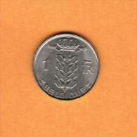 BELGIUM   1 FRANC (FRENCH) 1979  (KM # 142.1) - 1951-1993: Baudouin I